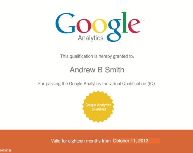 Google Analytics Qualification